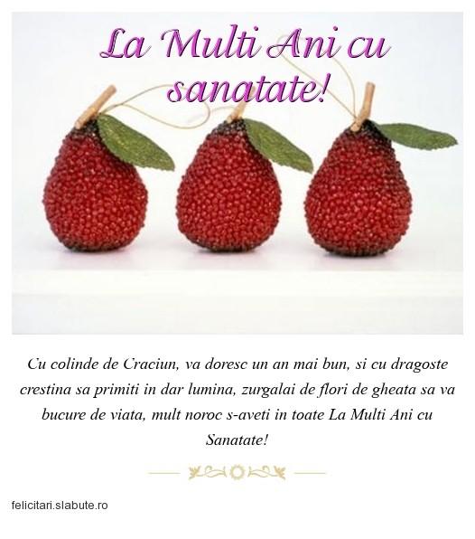 Poza felicitare La Multi Ani cu sanatate!