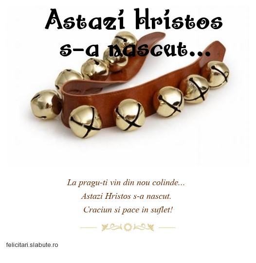 Poza felicitare Astazi Hristos s-a nascut...
