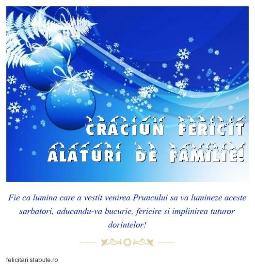 Poza felicitare Craciun Fericit alaturi de familie!